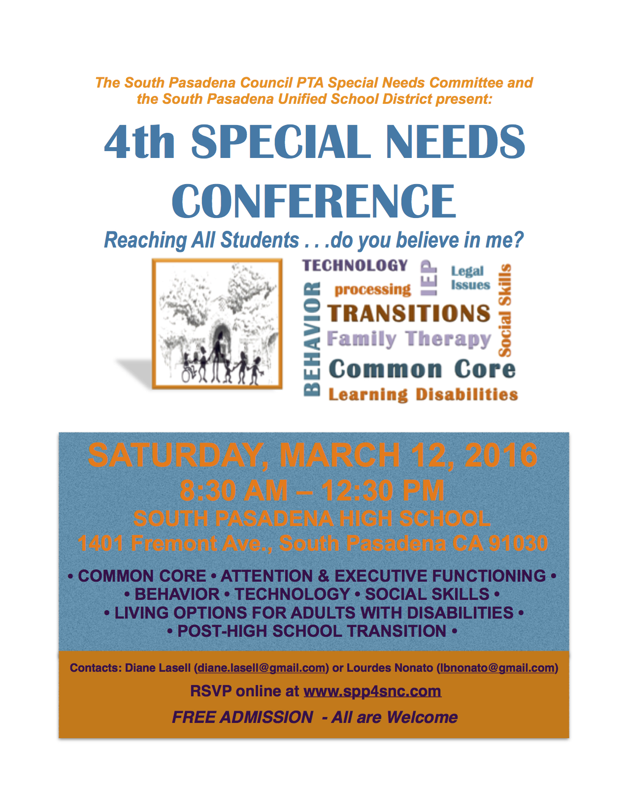 PAST MEETINGS - South Pasadena Parents for Special Needs Children