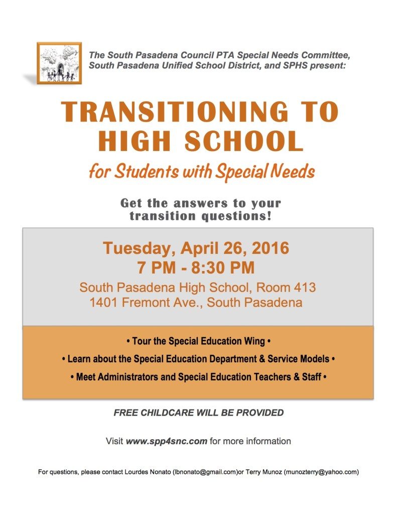 TransitiontoSPHSflyer2016