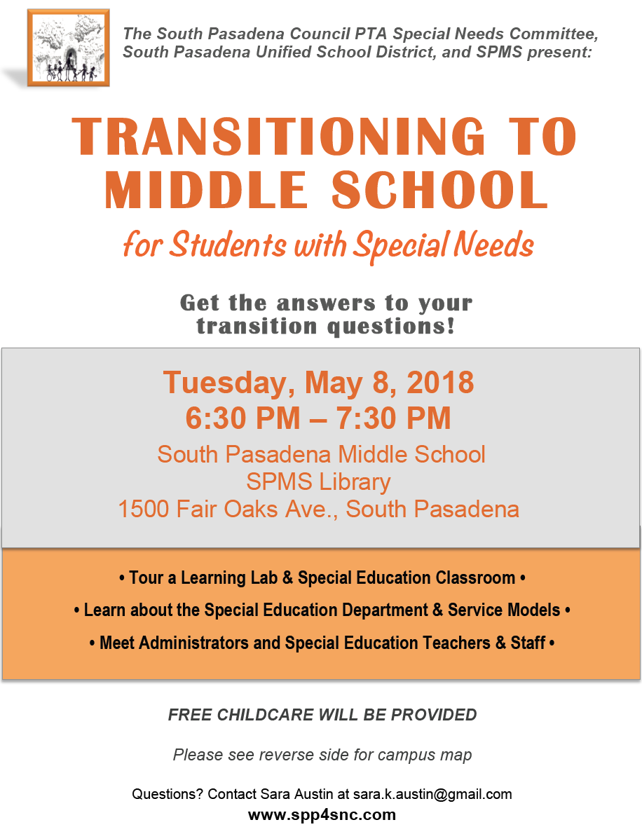 PAST MEETINGS - South Pasadena Parents for Special Needs